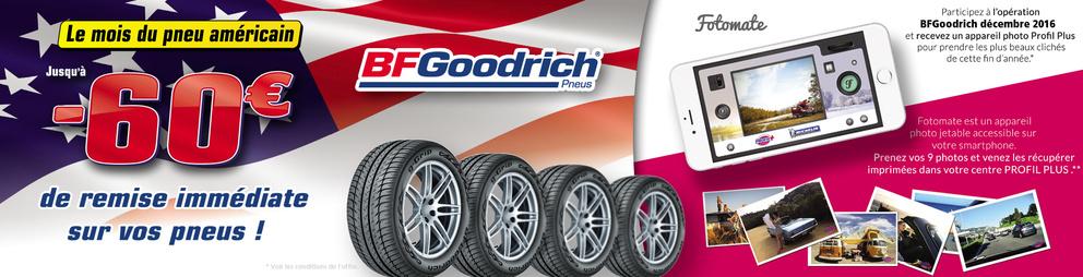 Promotion pneus BFGoodrich