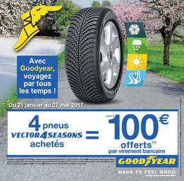 Promo Goodyear Vector 4 Seasons