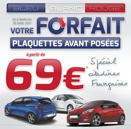 Offre freinage spécial citadines françaises - Bleu blanc rouge